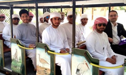 Student's visit to Sheikh Zayed Desert Learning Center