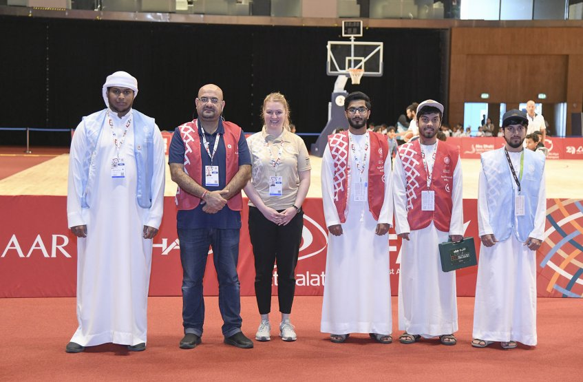 AAU student's participation in AD Special Olympics