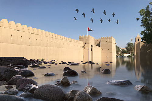 al-ain-jahili-fort-water-reflection Al Ain
